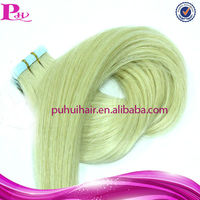 wholesale high quality blonde curly us tape hair extensions