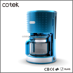 GS/CE standard hot selling Dots design 10-12 cup high temperature drip coffee maker machine/ GS CE approved coffee maker