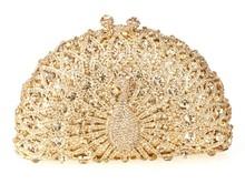 High-end fashion! luxury diamond clutch bag,peacock purse