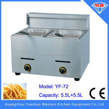 Factory direct selling multipurpose commercial gas double fryer