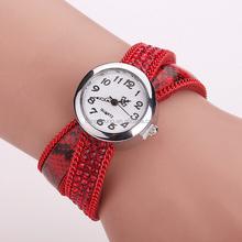 Customized logo rhinestone womans bracelet watch with crystal