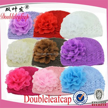 Best Selling Children Crochet Flower Winter Hat Knitted Baby Hat Acrylic Baby Hat