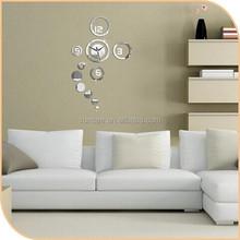 1-3mm Hot Sale beautiful sahped acrylic adhesive decor flip clock With 100% virgin PMMA material