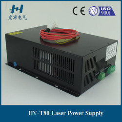 1250mm glass tube co2 laser cloth cutting machine power supply