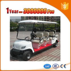 Differential motor 8 seater pure electric golf car with fashion shape