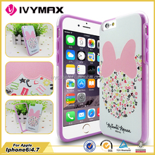 Hot china products wholesale sublimation 3D mobile phone case for iPhone6 tpu bumper combo case