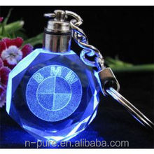 Popular Personalized Key Chain / LED Light Crystal Keychain/ Sell Well Souvenir Gift Crystal