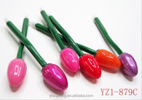 Yiwu market advertisement tulip ballpintpen ,flower ballpoint pen