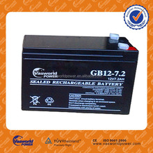 Factory supplier hot sale AGM ups battery 12v 7.2ah pass CE&ISO in good price