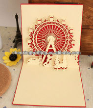 2013 Professional Blank Handmade Folded Paper Xmas Cards for Gift