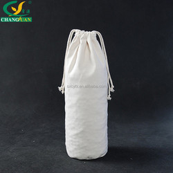 plain cotton drawstring bags without printing,canvas gift packae bag