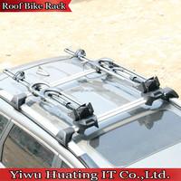 High-carbon steel Black Aluminum Practical Car Roof Bike Rack carrier for car