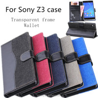 2015 new products for sony xperia z3 cell phone case for Z3 wallet frame flip stand cool smart phone cover