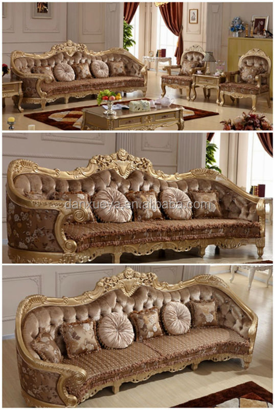 Luxury Hand Carved Furniture Sofa With Silver Leaf Finish Buy China Supplier Sofa Furniture