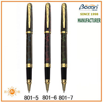 China factory sale custom engrave logo metal roller tip pen, luxury painting/lacquer red/blue pen, business signature pen RP-801