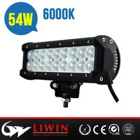 Super high quality LIWIN 54W offraod liwin rotating light bar for SUV 4WD off road 4x4 head lamp auto lamp motorcycle accessory