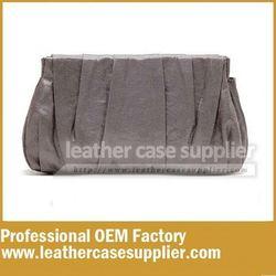 Faux leather metallic pu cosmetic bag