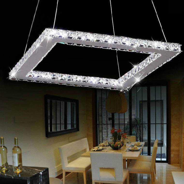 Modern square shaped crystal chandelier for home lighting buy home 750 1150 1890 3500 4g mozeypictures Choice Image