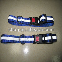 safety reflective nylon webbing dog collar with plastic buckle