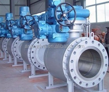 Flanged trunnion mounted stainless steel motorized ball valve