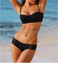 Factory Custom Wholesale Hollow out open sexy xxx hot sex bikini young girl swimwear p