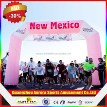 Advertising used inflatable arch for sports events