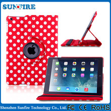 360 Degree Rotating Litchi Pattern PU Leather Case Cover Stand For iPad 2/3/4