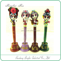 2015 peking opera various roles polyresin packed by blister card Chinese tranditional pen