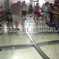 china factory high quality tempered tinted color insulated tempered glass floor