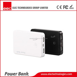 2015 hot selling Travel Charger (Black & White) polymer Power Bank Pack Charger with dual USB output
