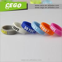 Wholesale !! box mod 2015 custom logo silicone rubber wristbands ring vape band