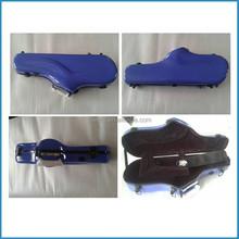 hot selling alto sax fiberglass case with pouch and strap, alto saxophone box, fiberglass saxophone case
