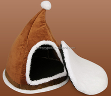 2014 New Cute Christmas Hat Dog House/Brown Dog Plush Room