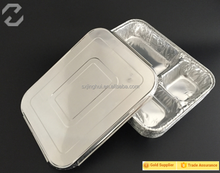 Aluminum Foil Container with dividers and Compartment