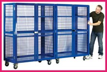 Collapsible folding metal security cage