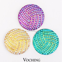 Wholesale 20PCS/Lot Vocheng 18mm Buttons Snap 6 Colors Acrylic Custom Snap Button Jewelry (Vn-707*20) Free Shipping