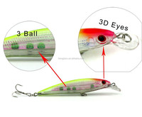 Wholesale in stock ABS plastic hard minnow lures for bass fishing 11cm 13.4g 3D eyes fishing equipment manufacturer