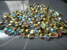 Yiwu popularity Crystal glass chatons and AB rhinestones stones to decorate clothes