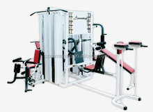 Body fit exercise equipment 10 Station Multi Gym Equipment with 405kgs weight stacks AMA9920B