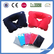 New fashion U-shaped inflatable neck pillow for decoration