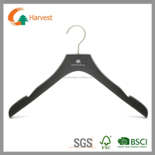 Dark finsh wooden hanger for clothes