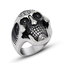 North skull punk rock rings for mens,titanium rings, championship rings china manufacture