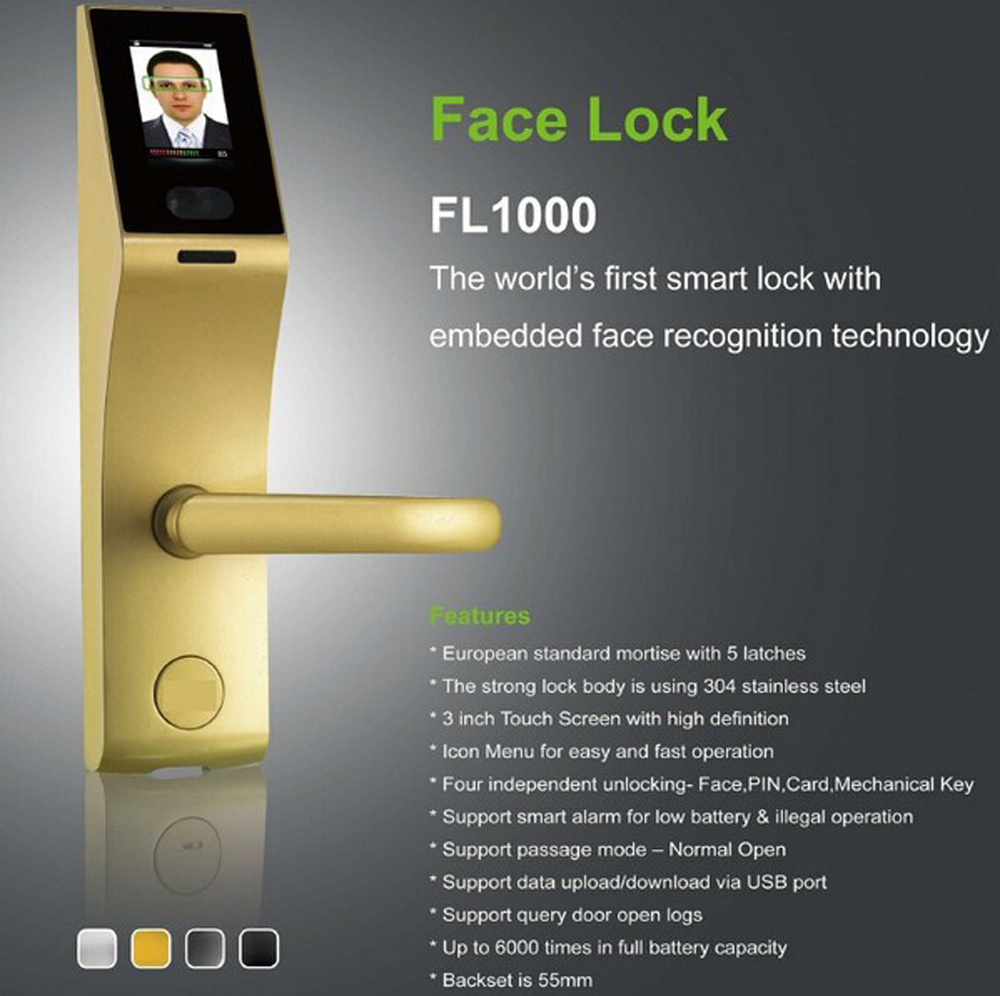 3 Inch Capacitive Touch Screen Biometric Face Recognition