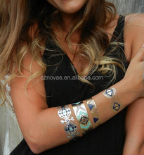 Holiday Decoration Glow in the Dark Temporary Tattoo Custom with REACH