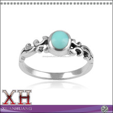 China Alibaba Wholesale Sterling Silver Turquoise Fashion Ring