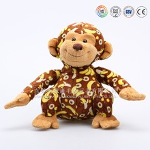 Customize promotional kid toys names plush monkey