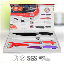 Good quality Non-stick Coating stainless steel kitchen knife set, utility knife, fruit knife