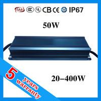 5 years warranty waterproof IP67 1.5A 50 watt 1500mA 30-34V 50W LED driver