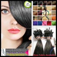 Alibaba Trade Assurance Paypal Accepted Factory Price 100% Temple Indian Remy Hair 1Gram Micro ring Loop Hair Extension