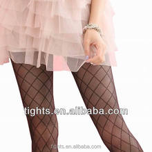 women knitted pantyhose black seamless nylon tights